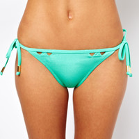 River Island Cut Out Triangle Bikini Top