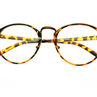 Clear Lense Vintage Fashion Round Glasses Tortoise R452 – FREYRS - Sunglasses at Affordable Prices