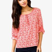 Boxy Paisley Top