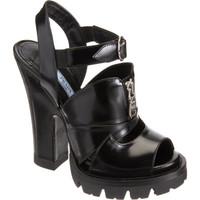 Prada Zip-Detail, Double-Platform Sandal at Barneys.com