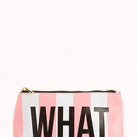 Whatever Striped Cosmetic Bag