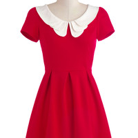 Looking to Tomorrow Dress in Rouge | Mod Retro Vintage Dresses | ModCloth.com