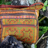 Messenger Bag Ethnic Hmong Embroidery Cross Body Tote