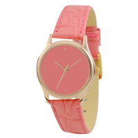 Ladies Simple Watch (Gold / Pink)