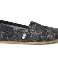 TOMS+ Navy Brocade Men's Classics