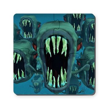 Piranhas Cork Coaster