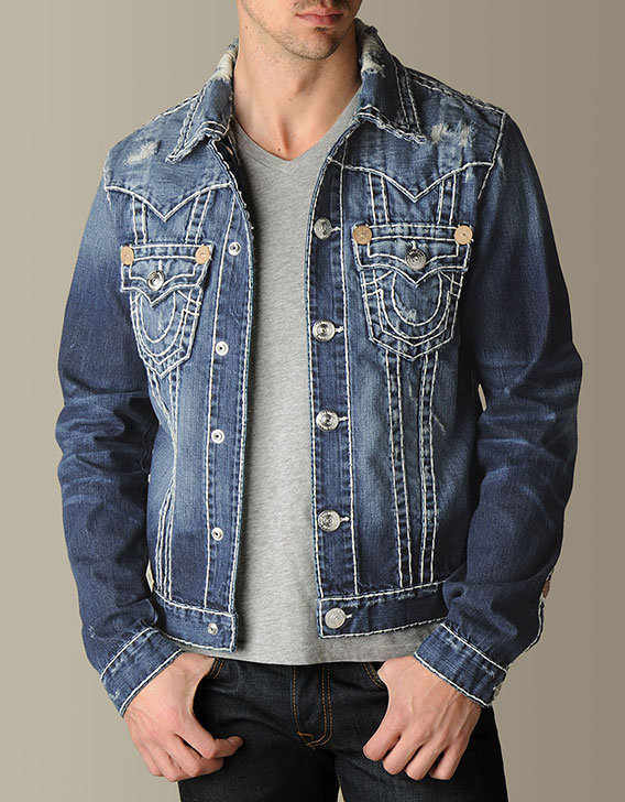 mens jimmy super t denim jacket from true religion
