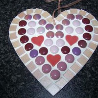 Glass Mosaic Heart - Heart Wall Hanging