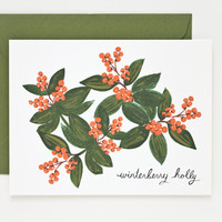 Rifle Paper Co. - Winterberry Holly Card