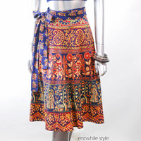 Vintage 1980s Ethnic Wrap Skirt