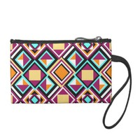 Quilt Pattern Repeat Clutch Coin Wallet