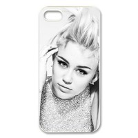 "DiyPhoneCover-Custom The Charming ""Miley Cyrus"" Printed Hard Protective White Case Cover for Apple iPhone 5-DPC-2013-11668"