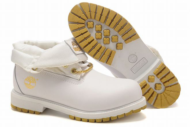 Timberland Roll Top Boot White Gold Mens from toelandshop.com