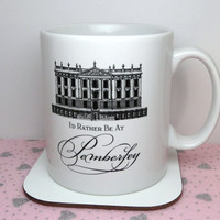 Pride & Prejudice Mug, I'd Rather Be At Pemberley Mug, Book Themed Mug, Jane Austen, UK