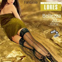 Patterned Hold ups with Back Seam Bellezza 20Den [lorbellez01] - 10.35 : tights, leggings, hold-ups, patterned tights, fishnets