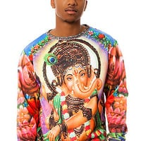 The Ganesh Crewneck in Multi