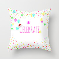 Celebrate! Throw Pillow by Sreetama Ray