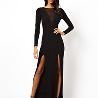 ASOS Mesh Insert Maxi Dress