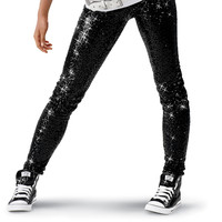 Sequin Ankle Length Dance Costume Leggings; Balera