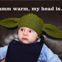 Baby Yoda beanie Star Wars 26 months by knitterkrys on Etsy