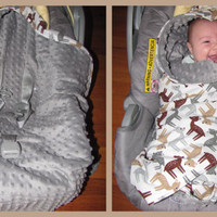 Car Seat Blanket with Minky fabric