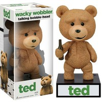 Talking Ted Wacky Wobbler Bobble Head - He Talks! - Whimsical & Unique Gift Ideas for the Coolest Gift Givers
