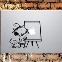 "Macbook Decals Snoopy Painting Apple Macbook Decal Sticker - For Macbook 13"" 15"" 17"""