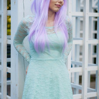ON SALE / Lavender / Light Purple / Long Straight Layered Wig