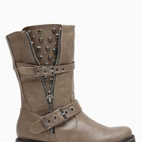Breckelles Embellished Taupe Rider Boots @ Cicihot Boots Catalog:women's winter boots,leather thigh high boots,black platform knee high boots,over the knee boots,Go Go boots,cowgirl boots,gladiator boots,womens dress boots,skirt boots.