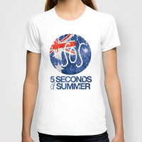 5 Seconds of Summer Flag T-shirt by dan ron eli