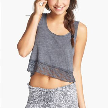 BP. Undercover 'Made the Cut' Crop Tank (Juniors) | Nordstrom