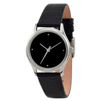 Ladies Simple Watch (Silver / Black)