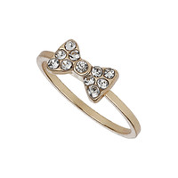 MINI CRYSTAL STONE BOW MIDI RING