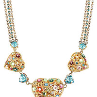 BetseyJohnson.com - FAIRYLAND 3 HEART NECKLACE MULTI
