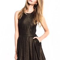 HUNTER DIXON Gold Harper Dress