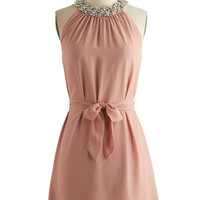 ModCloth Pastel Mid-length Sleeveless Sheath Shimmy and Shine Dress