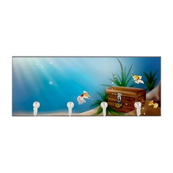 Underwater Treasure Chest Key Hanger