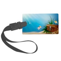 Underwater Treasure Chest Luggage Tag