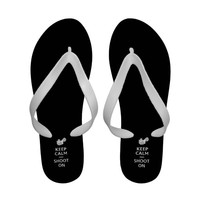 shoot on black women's flips Flip-Flops