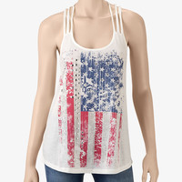 Almost Famous American Flag Screen Tank – Juniors|Stage Stores