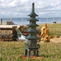 The Nara Temple: Asian Garden Pagoda Sculpture - EU7430                    - Design Toscano