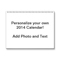 Custom Printed 2014 Calendar from Zazzle.com