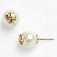 Tory Burch 'Evie' Faux Pearl Stud Earrings | Nordstrom