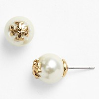 Tory Burch 'Evie' Faux Pearl Stud Earrings