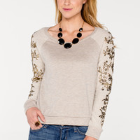 Embellished Sleeve Top - Women's Clothing and Fashion Accessories | Bohme Boutique