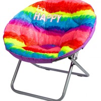 Faux Fur Rainbow Saucer Chair | Girls Room Decor Room, Tech & Toys | Shop Justice