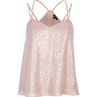 PEACH JACQUARD SWING CAMI TOP