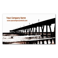 Pier and Waves in (Mostly) Black and White Business Card Templates