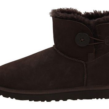 UGG Mini Bailey Button Dove Blue - Zappos.com Free Shipping BOTH Ways