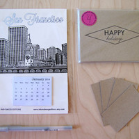 Happy Holidays San Francisco Stationery Holiday Combo Pack